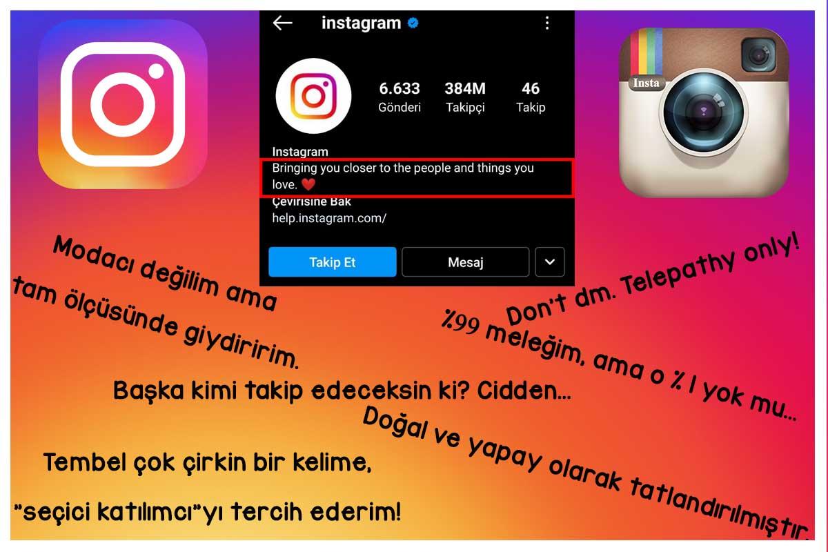 Instagram Biyografi Sözleri -En Havalı Instagram Bio Sözleri